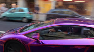 lamborghini dark purple glow in the dark aventador exhaust flame youtube