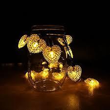 heart shaped christmas lights amazon com jojoo solar powered starry fairy string lights 20 led