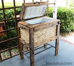 Patio Made Out Of Pallets by Wooden Patio Cooler Plans Patio Outdoor Decoration