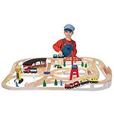 melissa and doug train table and set amazon com melissa doug multi activity table railway set bundle