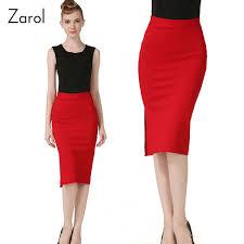 high waisted pencil skirt office high waist pencil skirt fashion knee length split