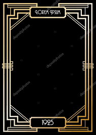 printable art deco borders gatsby border template etame mibawa co