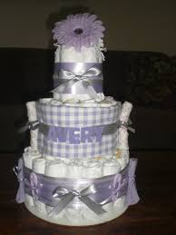 purple butterfly diaper cake baby shower centerpiece baby