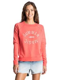 roxy hollow dance a pullover sweatshirt georgia peach mje0