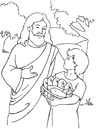 Bible Story Coloring Pages Jesus Feeds The Multitudes Children Bible Stories Coloring Pages