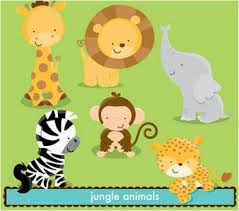 baby animal clipart baby shower jungle theme pencil and in color