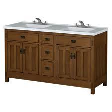 Bathroom Vanity With Offset Sink Sweet Ideas 60 Bathroom Vanity Sagehill American Craftsman 60