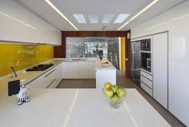 Recessed Kitchen Cabinets Kitchen Lighting Glossy White Kitchen Cabinets With Modern