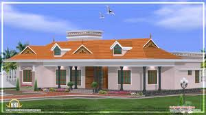 one floor house plans in kerala asian single front elevation