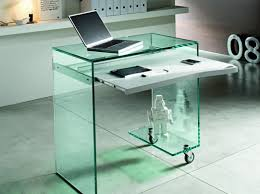 small clear glass table l luxury white glass desk decorating all office pictures with cool
