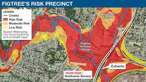 100 Year Floodplain Map Figtree Punished By Flood Plan As Insurance Soars Illawarra Mercury