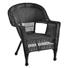 Wicker Patio Chair by International Caravan Chelsea Resin Wicker Steel Patio Dining