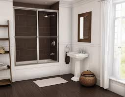 glass shower sliding doors small bathroom decoration using stainless steel framed clear glass