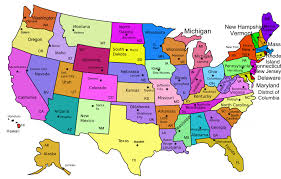 amarican map map of america and canada with states major tourist best