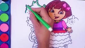 dora coloring book pages dora the explorer coloring book coloring pages dora in a