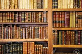 shelf of old books bookstore library stock photo picture and
