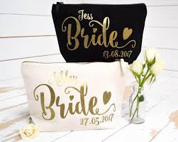 bridal party makeup bags gift personalised gift make up bag bridesmaid of