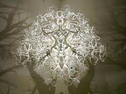 cruel design and white foundation color for branch chandelier give