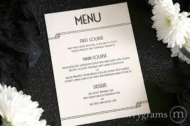 table card menu deco style