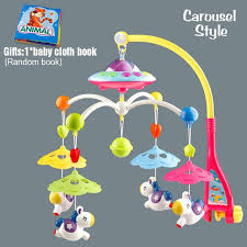 baby toys 0 12 months crib mobile musical bed bell with animal