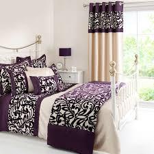 plum baroque flock bed linen collection dunelm katherine place