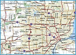detroit metro airport map michigan metro map travel map vacations travelsfinders com