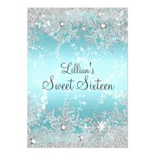 sweet sixteen birthday party invitation sweet 16 blue diamond