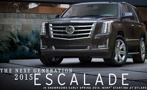 price of a 2015 cadillac escalade 2015 cadillac escalade gets 3 725 price increase autoguide com