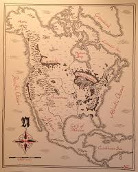 Etsy Maps Map Of North America Drawn In Tolkein U0027s Style Boing Boing