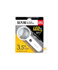 magnifier with led light deli magnifier with led light 9098 paper clip
