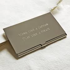 personalised business card holder by highland