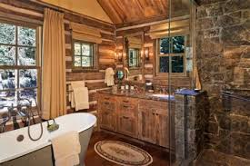 rustic cabin bathroom ideas bath and shower rustic cabin rustic living room