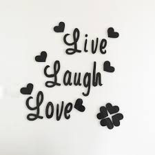 live love laugh quote wall sticker quotes acrylic reflective