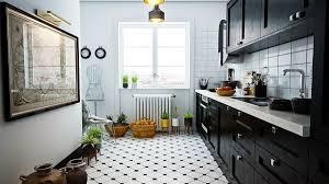 white and black tiles for kitchen design kitchen design ideas