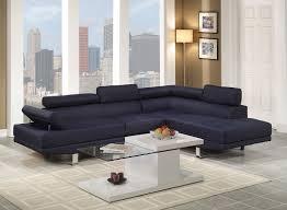 Sectional Sofa Amazon Com Poundex Bobkona Vegas Blended Linen 2 Piece Sectional