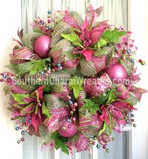deco mesh wreath ideas deco mesh christmas wreath pink lime