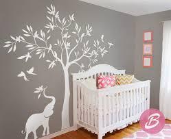 stickers arbre chambre enfant sticker mural arbre blanc sticker mural avec éléphant