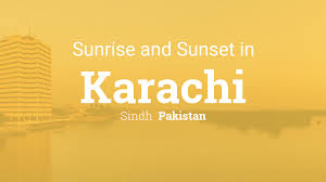 A Flag For Sunrise Sunrise And Sunset Times In Karachi
