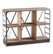 Storage Console Table by Newberg Industrial Loft Modern Wood Steel Standing Shelf Kathy