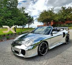 porsche vinyl chrome porsche 911 turbo amazing silver chrome walk around vinyl