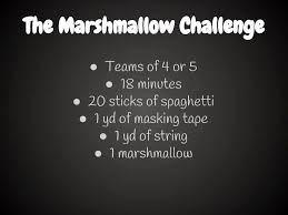 Challenge On The Marshmallow Challenge A Great Team Building Exercise Middle