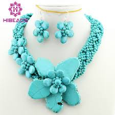 turquoise necklace earring set images Fabulous stone necklace earrings jewelry set euramerican stone jpg