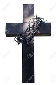 cross and thorns isolated stock photo picture and royalty free