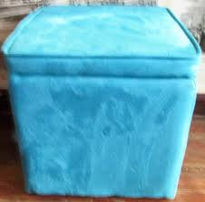 Aqua Storage Ottoman Ottoman Target Blue Tufted Teal Leather Aqua Navy Storage