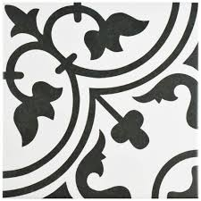 merola tile arte white 9 3 4 in x 9 3 4 in porcelain floor and