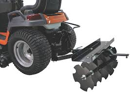 multiple husqvarna division attachment rear mounted disc pull