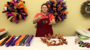 how to make a halloween wreath youtube