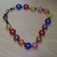 flower beaded bracelet images 750 best bead flower tutorial images seed beads jpg