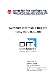 Blue Line Delhi Metro Map by Dmrc Summer Internship Report