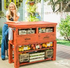 make your own kitchen island out of an old coffee table